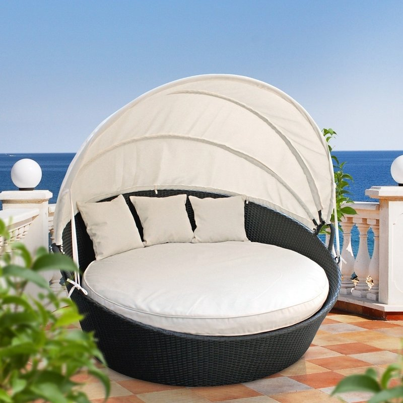 Outdoor Daybed holden canopy outdoor patio daybed with cushions VXUXWGR