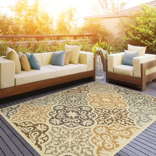 Outdoor rug colton yellow/brown indoor/outdoor area rug JVEQQUK