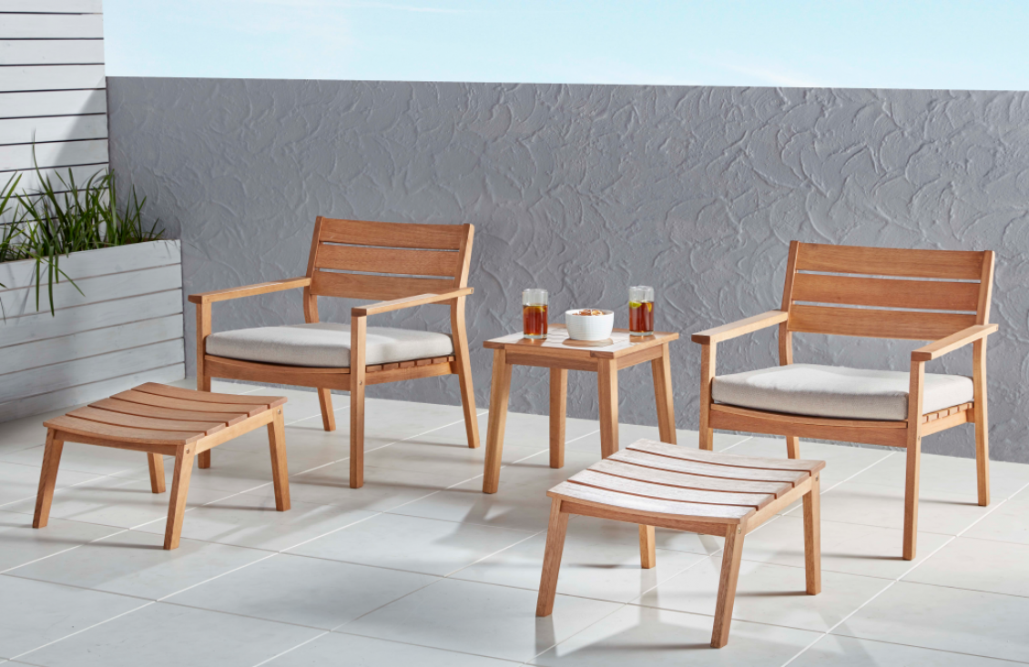Outdoor Settings cruz 5 piece chat RIDNZWO