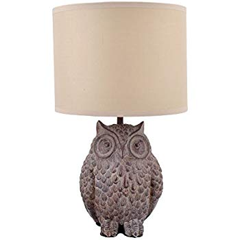 Owl Lamp creative co-op owl lamp with shade, 13 CFZMYHD