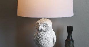 Owl Lamp owl table lamp - white/white UBBSTEA
