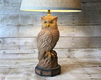 Owl Lamp vintage owl lamp mid century ... SJGQFEI