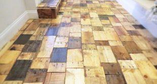 pallet wood floor our final result KIZMHNN