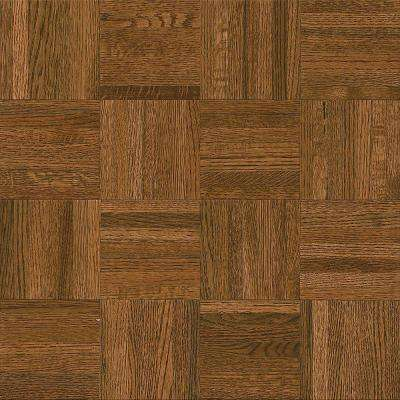 parquet flooring natural oak gunstock 5/16 in. thick x 12 in. wide x 12 TIOJNAW