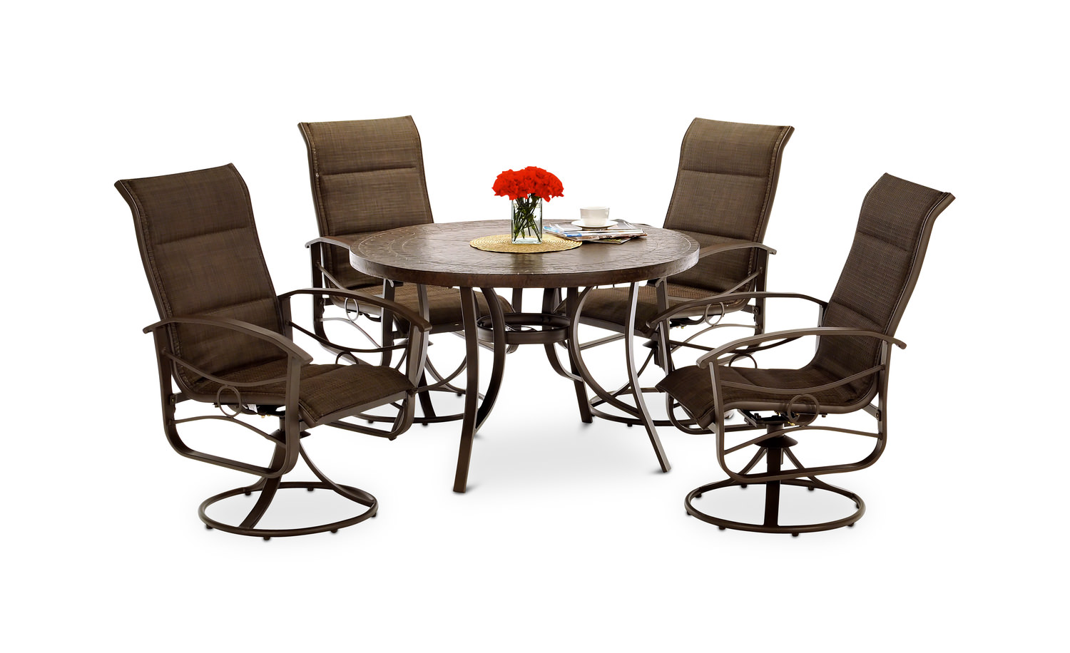 Patio Sets callaway iii 5 piece patio dining set ... IUDYHLN