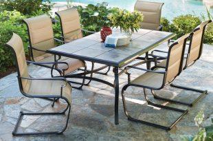 Patio Sets hampton bay belleville 7-piece padded sling outdoor dining set OFLEKFV