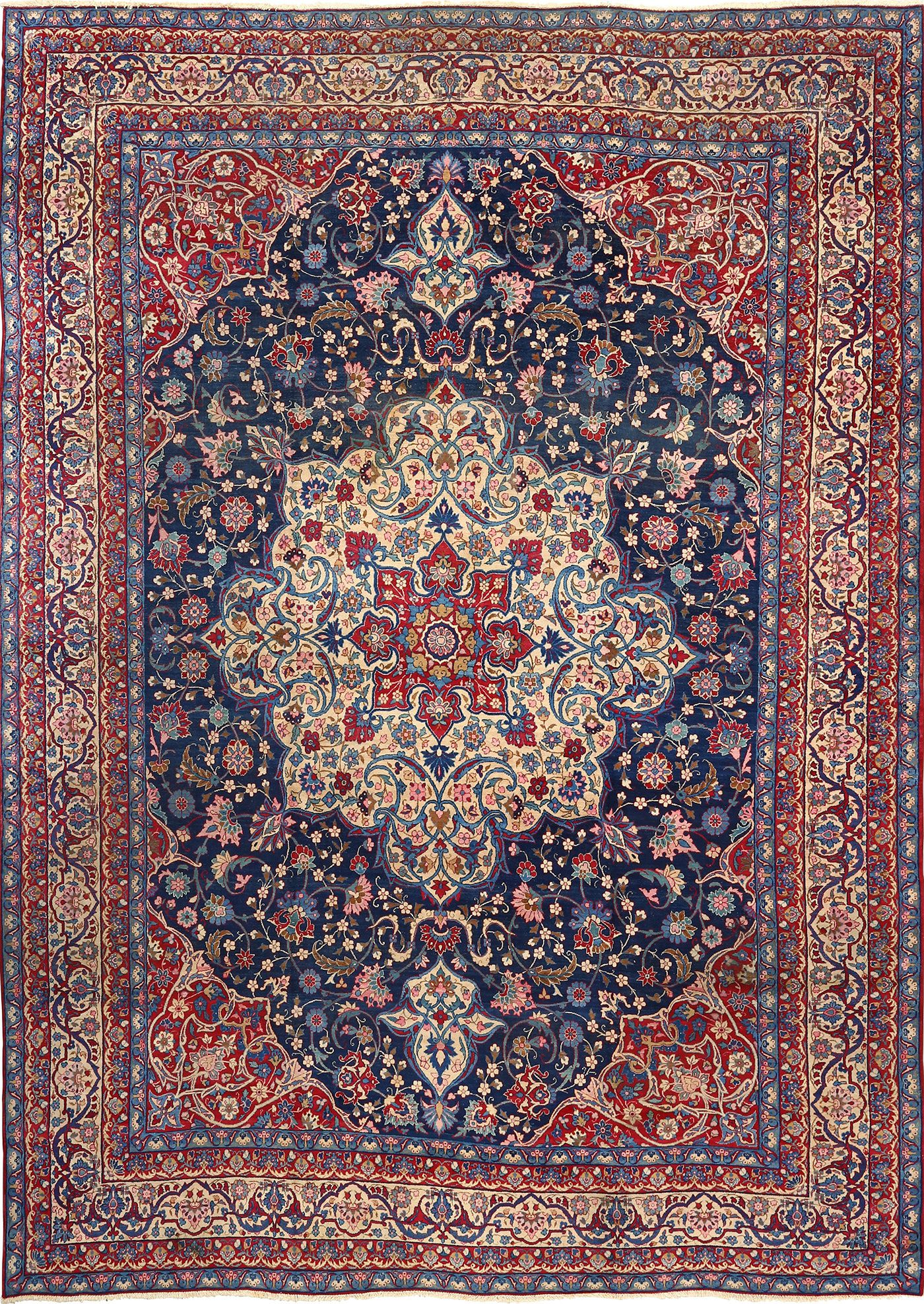 persian rugs antique blue bakground isfahan persian rug 51066 nazmiyal RZFOTJQ