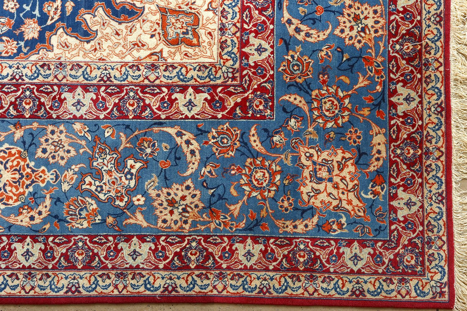 persian rugs fine ivory background vintage isfahan persian rug 51078 flower nazmiyal CBMQAAW