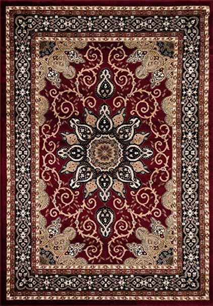 persian rugs persian-rugs 653 isfahan area rug oriental carpet, 5 x 7 ft, burgundy IZODVFU
