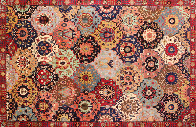 persian rugs weavers began to incorporate more intricate, formal designs into their  masterpieces that XLOFPSV