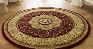 photo 2 of 5 heritage 4400 circular rugs in red (beautiful circular rugs RUONVKL
