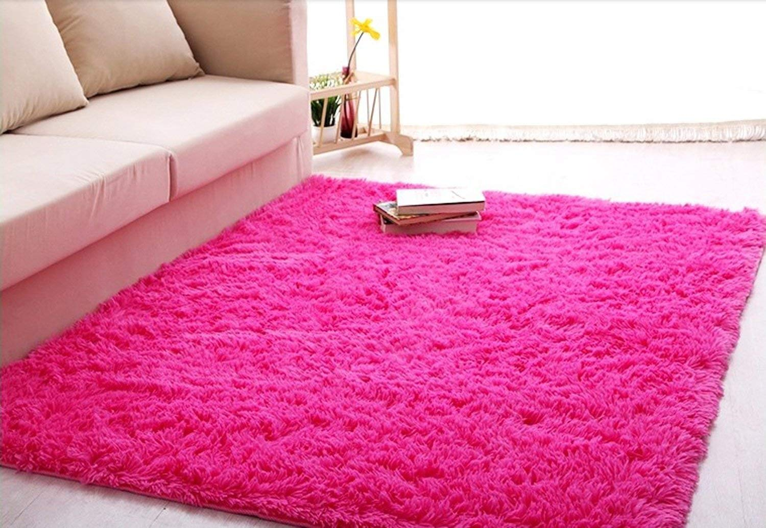 pink rug amazon.com: forever lover soft indoor morden shaggy area rug pad, 2.5 x GXEGYSD