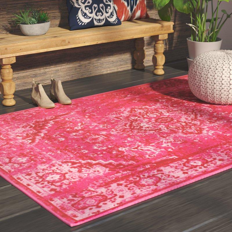 pink rug decker pink area rug IOKNRCT