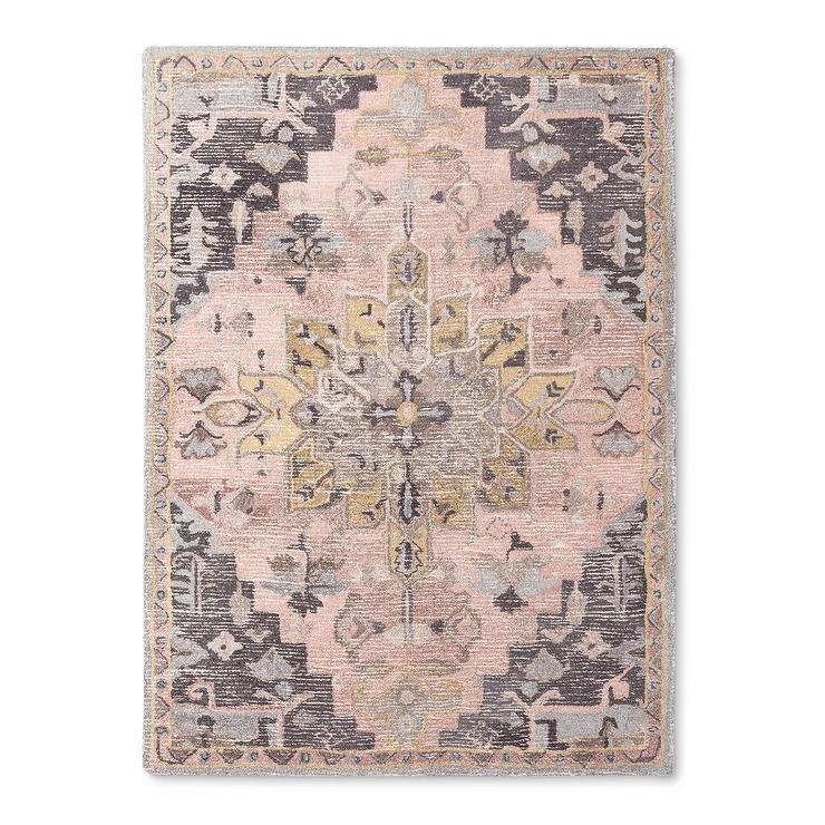 pink rug threshold vintage pink gray wool rug HCYNZSP