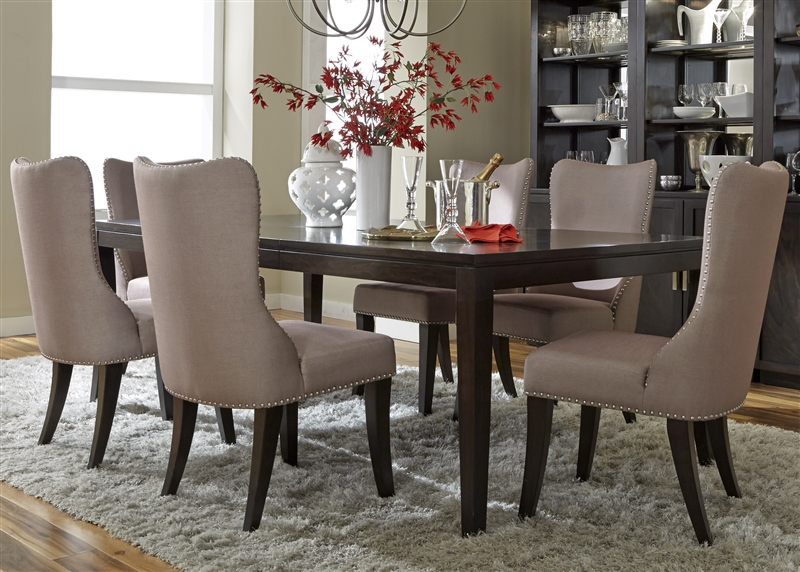platinum 7 piece dining set in satin espresso finish by liberty furniture - QZCTXIF