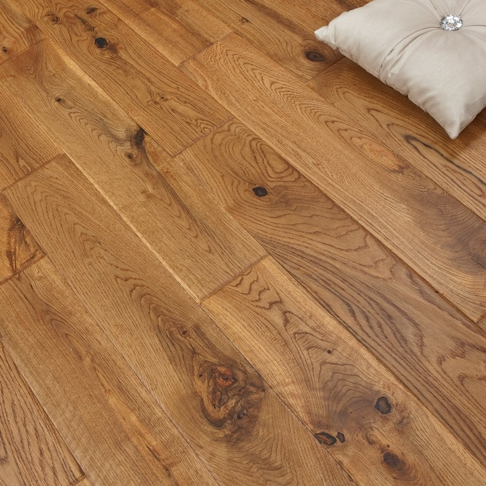 platinum series solid oak flooring 18mm x 120mm hand scraped uv vintage QWWGNIA