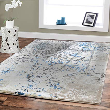premium rug large rugs for dining rooms 8 by 11 blue beige brown GBRAHXS