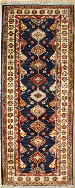 r8296 gorgeous caucasian kazak carpet runners ZQGWFVS