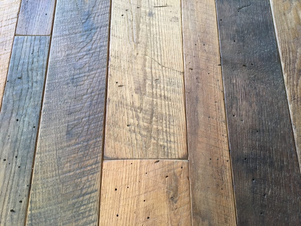 reclaimed wood floors thickness ... HXKTTEG