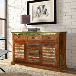 reclaimed wood furniture austin-rustic-reclaimed-wood-shutter-door-3-drawer- VJOZVOF