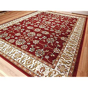 Red rugs persian red rugs all over tabriz design 5 by 7 traditional area rugs NMYUPWE