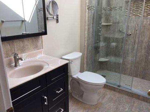 remodeled bathrooms bathroom remodeling projects - completed - september 2017 PPEYRIF