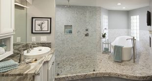 remodeled bathrooms remodeled master bathroom with rain showerhead and standalone tub NAPFAOC