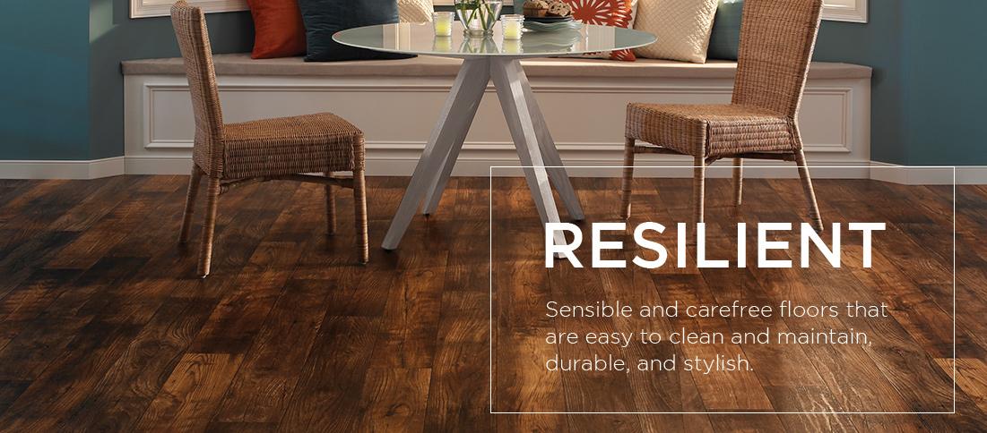 resilient flooring resilient vinyl flooring - sensible, carefree floor - mannington flooring BBBPIVY