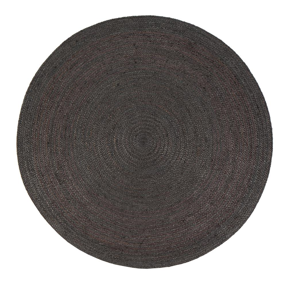 round area rugs anji mountain kerala gray 6 ft. x 6 ft. jute round area rug ZXJLOMX
