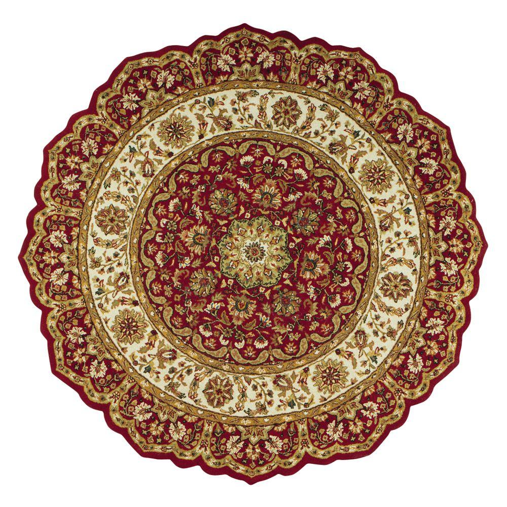 round area rugs home decorators collection masterpiece red 6 ft. round area rug DIXYQVK
