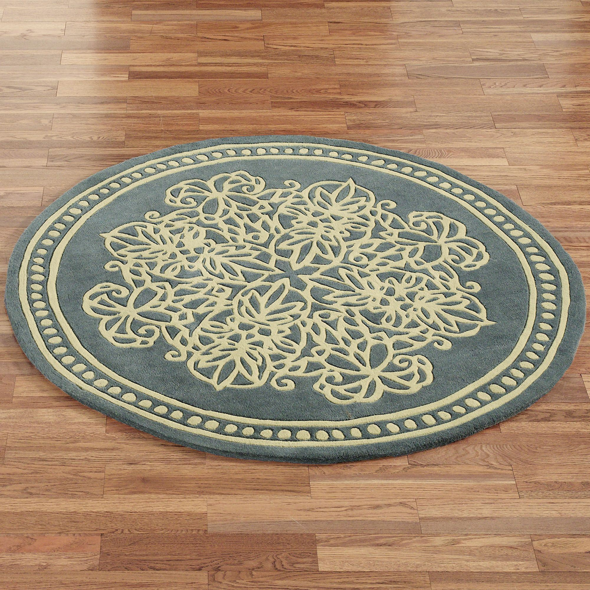 round area rugs lucia lace round rug steel blue 5 round GGQUAOS