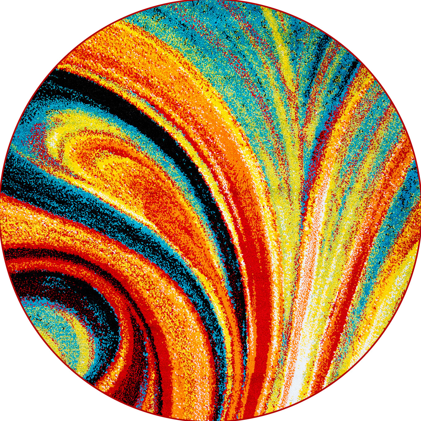 round area rugs multi-color swirls round area rug 8x8 abstract carpet - actual 7u0027 10 RIGMYBS