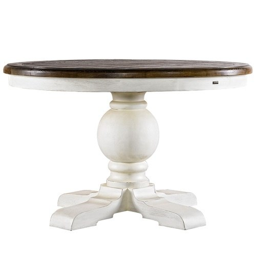 Round Pedestal Dining Table kingdom antique white oak wood round pedestal dining room table 48 IHQNRDS