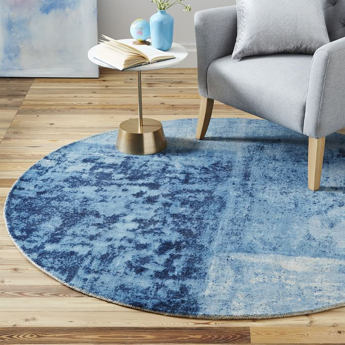 Where can you place your round rugs?