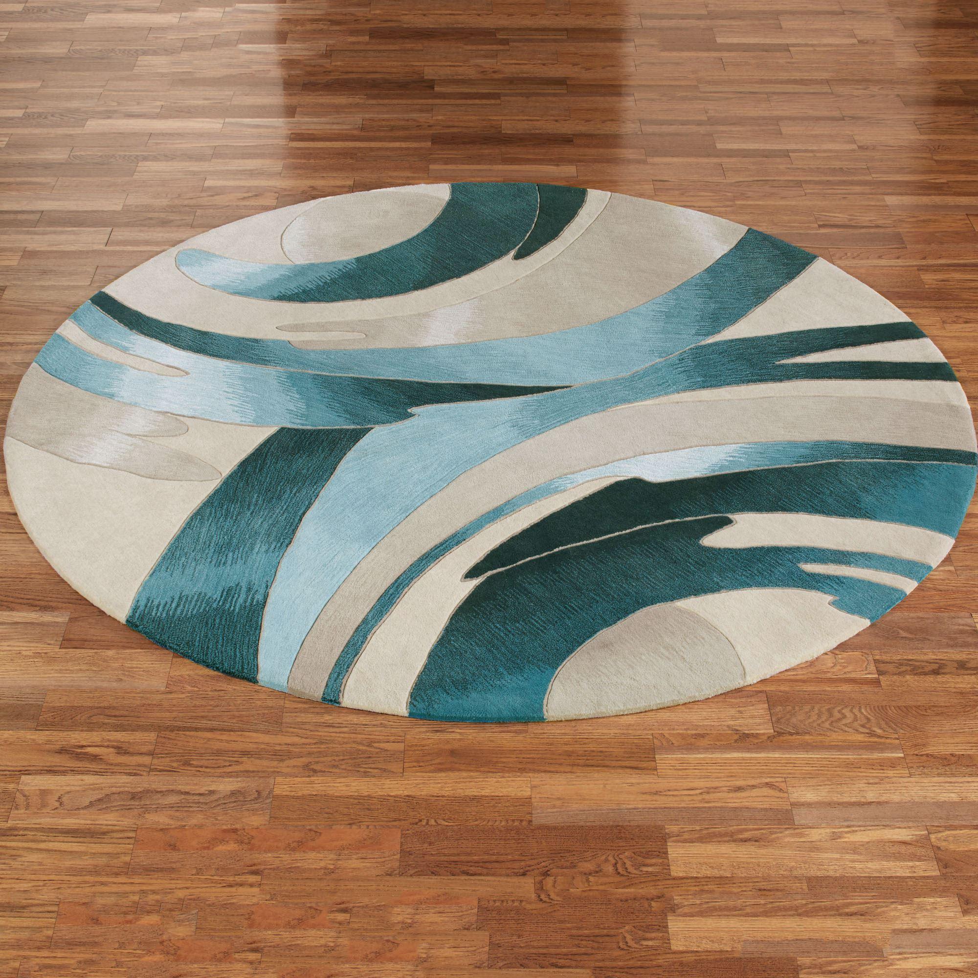 round rugs perfect storm round rug blue TMJPWAA