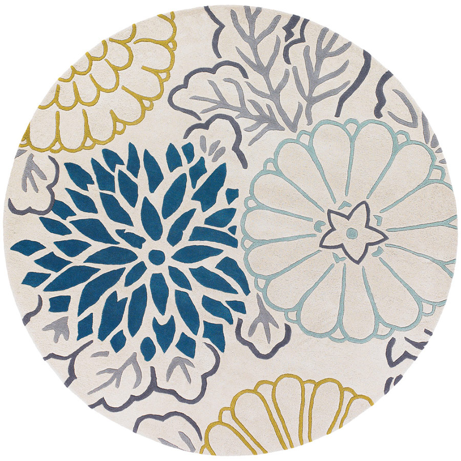 round rugs product reviews for kimono 8u0027 round rug | teal GHPTZDQ
