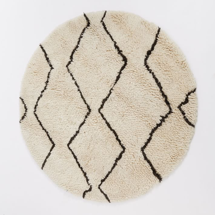 round rugs souk rug - round | west elm BNLOHII