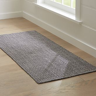 Rug runners della grey cotton flat weave rug runner 2.5x6 KWIYQCQ