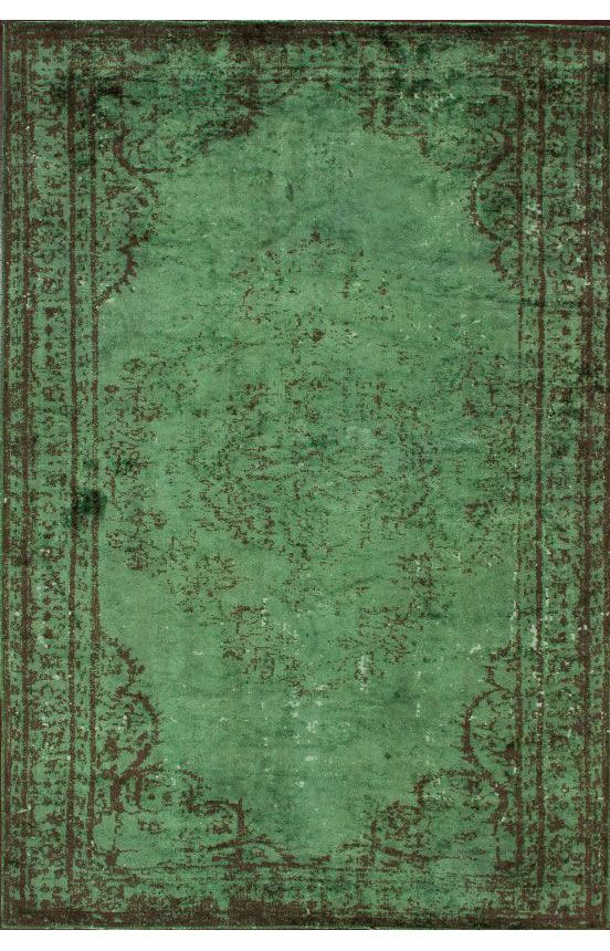 rugs usa reclaimed vintage havva overdye green rug RAGPNDS