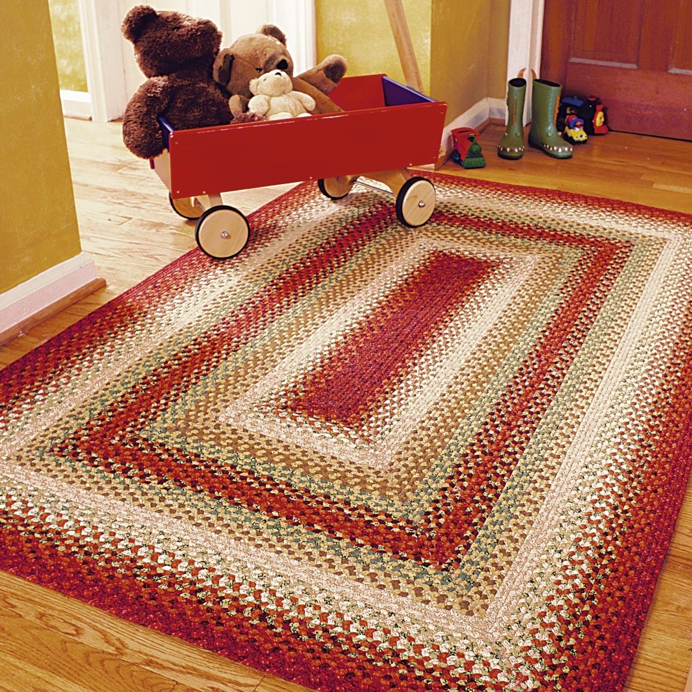 santa fe sunrise multi color cotton braided rugs EPZPEKO