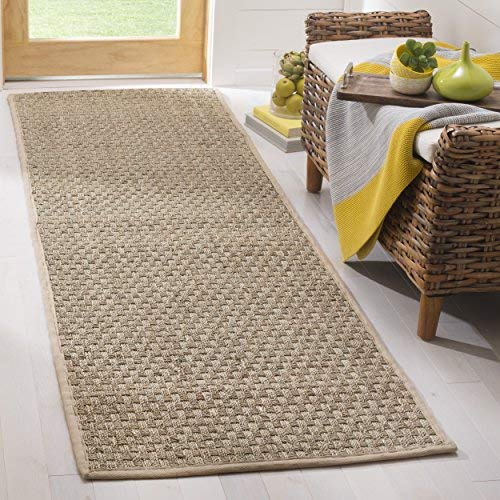 seagrass carpets safavieh natural fiber collection nf114a basketweave natural and beige  summer seagrass runner UTILMUI
