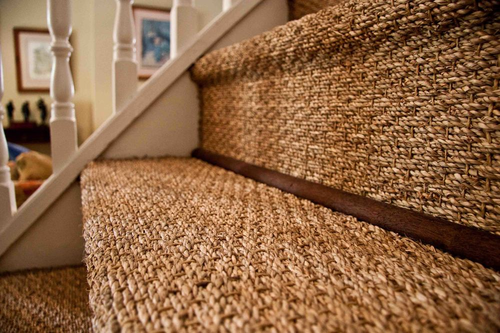 seagrass carpets seagrass carpet stairs PBEVBVJ