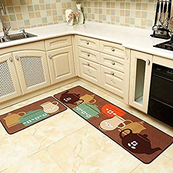 seamersey home and kitchen rugs 2 pieces 4 size decorative non-slip rubber MZZTCCE