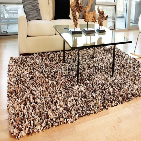 shag rugs ... espresso paper shag rug ... SYTEYSQ