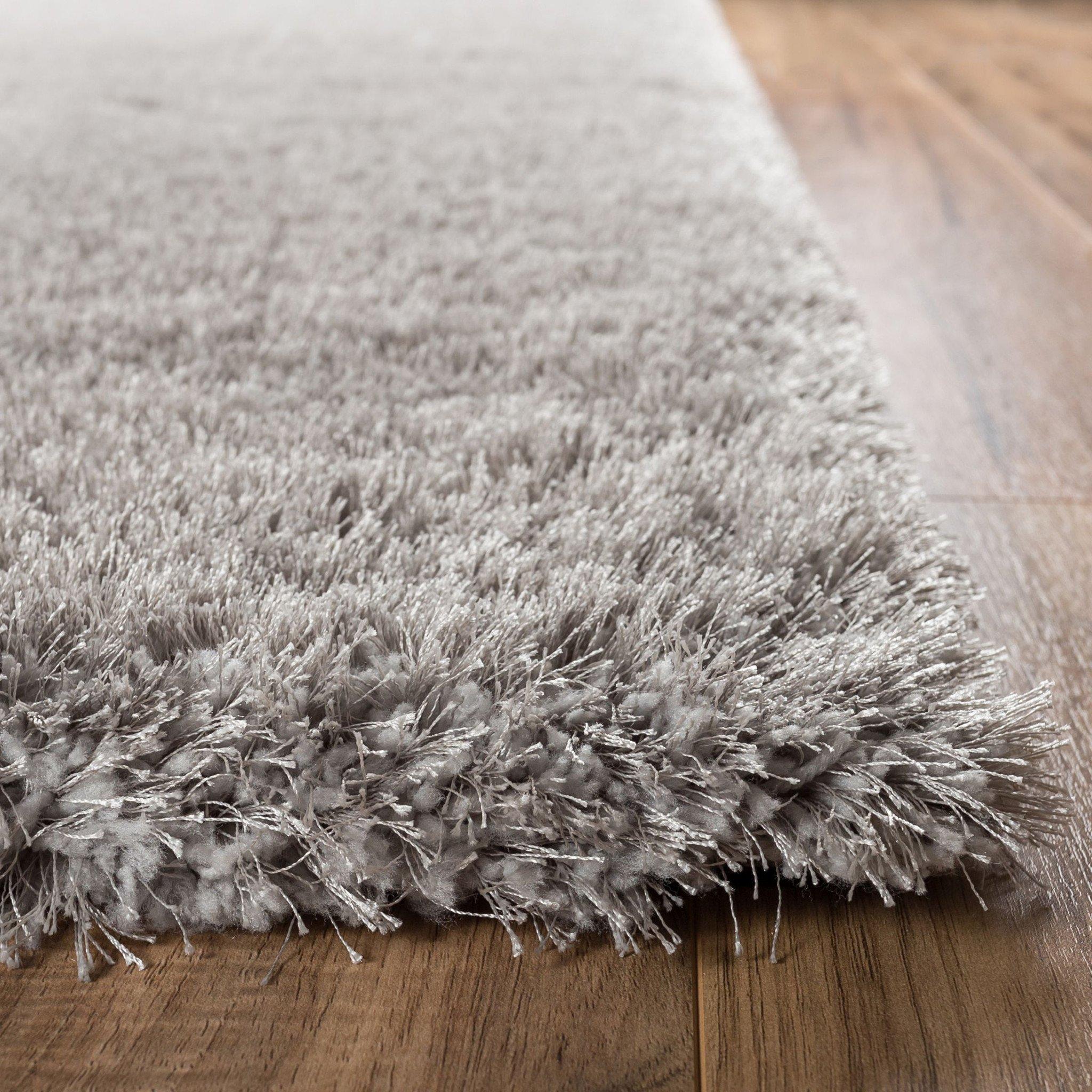 shag rugs shimmer shag silver grey solid modern area rug NXOUUSP