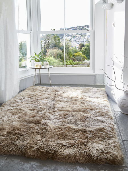 Sheepkin rugs luxurious xl sheepskin rug - caramel KFRZCGU