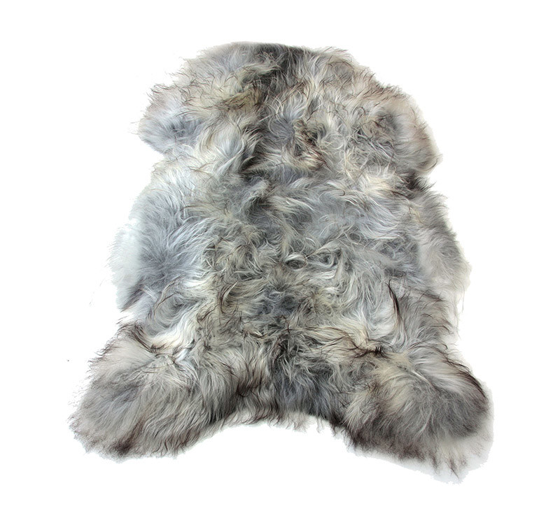 Sheepkin rugs natural undyed gray icelandic sheepskin pelt UHASZOD