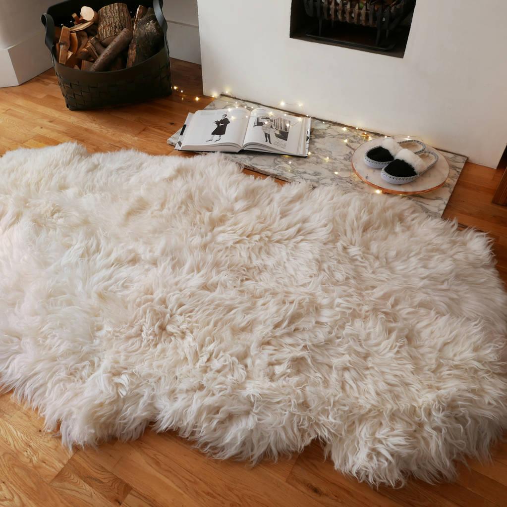 Sheepkin rugs xl quad sheepskin rug NTWBQWJ
