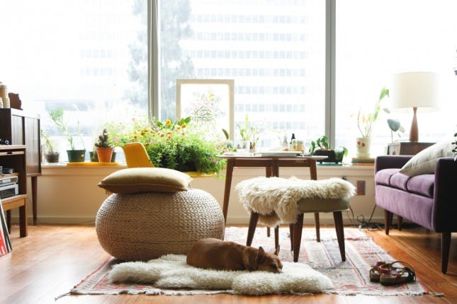 sheepskin rug ideas 15 creative places to use the ikea sheepskin rug | brit + co NTCJSDV