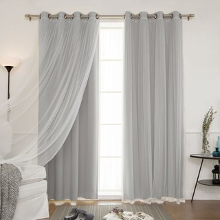 Sheer Curtain aurora home mix and match blackout blackout curtains panel set (4-piece) VTXNQRV